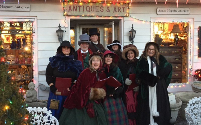 boots on the ground theater's Dickens Carolers